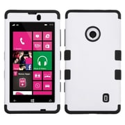 Insten Ivory White/Black Stylish TUFF Hybrid Rugged Hard Shockproof CaseFor NOKIA Lumia 521