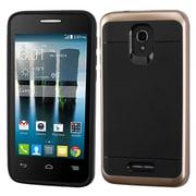 Insten Hard Dual Layer TPU Cover Case For Alcatel One Touch Allura/Fierce 4/Pop 4+ - Black/Gold