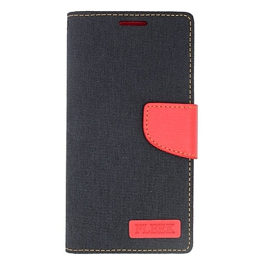 Insten Flip Wallet Leather Stand Case with Card slot & Photo Display For LG Volt 2 - Black/Red
