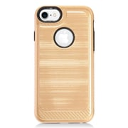 Insten Hybrid CS4 Brushed Metal Hard Dual Layer Shockproof Case Cover For Apple iPhone 7 - Gold/Black
