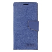 Insten Flip Wallet Leather Stand Case with Card slot & Photo Display For LG Volt 2 - Dark Blue