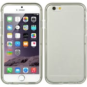 Insten Hybird Ultra Thin Agua Clear TPU Frame Rubber Gel Case For Apple iPhone 6s Plus / 6 Plus - Gray