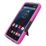 Insten Hard Dual Layer Plastic Hybrid Case For Motorola Droid Turbo - Black