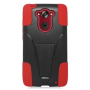 Insten Hard Hybrid Plastic Silicone Case with stand For Motorola Droid Turbo - Black