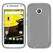 Insten Frosted TPU Cover Case For Motorola Moto E (2nd Gen) - Gray