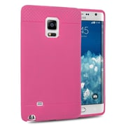 Insten Rubber Gel Skin Cover Case For Samsung Galaxy Note Edge - Hot Pink