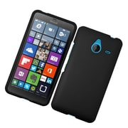 Insten Hard Rubber Coated Cover Case For Microsoft Lumia 640 XL - Black