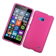 Insten Hard Rubber Coated Case For Microsoft Lumia 640 - Hot Pink
