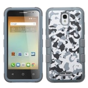Insten Tuff Camouflage Hard Hybrid Silicone Cover Case For Alcatel One Touch Elevate - Gray/White