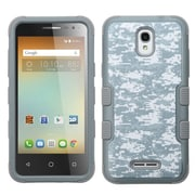 Insten Tuff Camouflage Hard Dual Layer Rubber Coated Silicone Cover Case For Alcatel One Touch Elevate - Gray/White