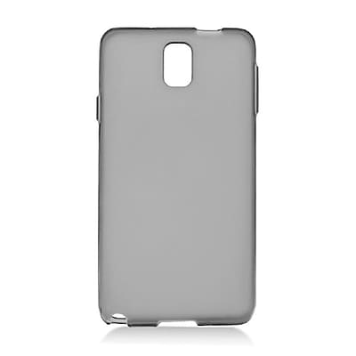 Insten Transparent Frosted TPU Rubber Candy Skin Case Back Cover For Samsung Galaxy Note 3 - Smoke 24079083
