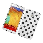 Insten Polka Dots Hard Plastic Case For Samsung Galaxy Note 3 - White/Black