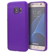 Insten Dots Rubber Case For Samsung Galaxy S7 Edge - Purple