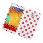 Insten Polka Dots Hard Plastic Case For Samsung Galaxy Note 3 - White/Pink