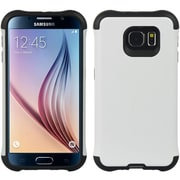 Insten Hybrid Anti Shock Hard TPU Dual Layer Cover Shockproof Case For Samsung Galaxy S6 - White/Black