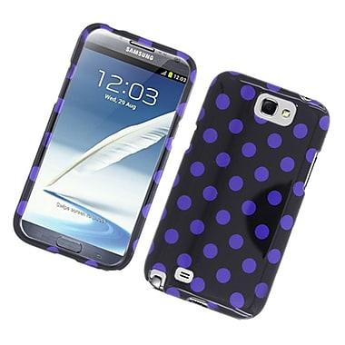 Insten Polka Dots Hard Plastic Case For Samsung Galaxy Note 2 II - Black/Purple