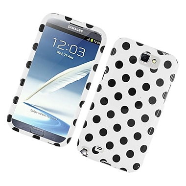 Insten Polka Dots Hard Plastic Case For Samsung Galaxy Note 2 II - White/Black