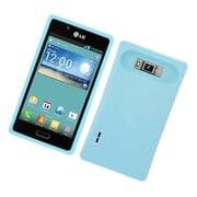Insten Two-Tone/NightGlow Hybrid Jelly Hard Silicone Case Cover For LG Splendor US730 / Venice LG730 - Blue