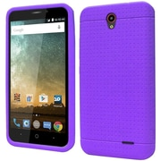 Insten Rugged Skin Rubber Cover Case For ZTE Prestige - Purple