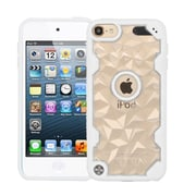 Insten Polygon Hard Crystal TPU Cover Case For Apple iPod Touch 5th Gen/6th Gen - Clear/White