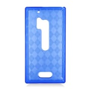 Insten Checker Gel Clear Cover Case For Nokia Lumia 928 - Blue