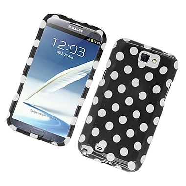 Insten Polka Dots Hard Plastic Case For Samsung Galaxy Note 2 II - Black/White