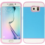 Insten Triple Hybrid Hard TPU Dual Layer Cover Shockproof Case For Samsung Galaxy S6 Edge - Pink/Blue