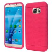 Insten Rugged Soft Rubber Case For Samsung Galaxy S7 - Hot Pink