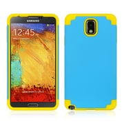 Insten Hybrid Hard TPU Dual Layer Cover Shockproof Rubber Case For Samsung Galaxy Note 3 - Blue/Yellow