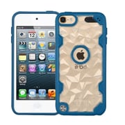 Insten Polygon Hard Crystal TPU Case For Apple iPod Touch 5th Gen/6th Gen - Clear/Blue