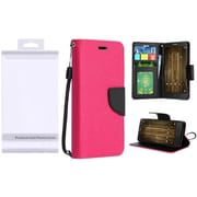 Insten PU Leather Flip Wallet Credit Card Stand Cover Case For Alcatel One Touch Allura / Fierce 4 / Pop 4+ - Hot Pink