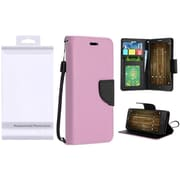Insten PU Leather Flip Wallet Credit Card Stand Cover Case For Alcatel One Touch Allura / Fierce 4 / Pop 4+ - Rose Gold