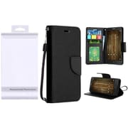 Insten PU Leather Flip Wallet Credit Card Stand Cover Case For Alcatel One Touch Allura / Fierce 4 / Pop 4+ - Black