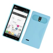 Insten Two-Tone/NightGlow Jelly Hybrid Hard Silicone Case Cover For LG Optimus L9 P769 - Blue