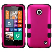 Insten Titanium Solid Hot Pink/Black TUFF Hybrid Rugged Hard Shockproof Phone Case For Nokia Lumia 630 635