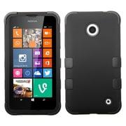 Insten Black/Black TUFF Hybrid Phone Protector Cover Case For Nokia Lumia 630 635