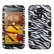 Insten Zebra Skin/Black Hybrid Hard Shockproof TUFF Skin Case For Kyocera Hydro Life C6530 Icon 6730