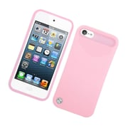 Insten Two-Tone/NightGlow Jelly Hybrid Hard Silicone Case Cover For Apple iPod Touch 5th Gen - Pink