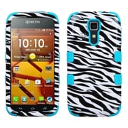 Insten Zebra Skin/Tropical Teal Hybrid TUFF Case For Kyocera Hydro Life C6530 Icon 6730