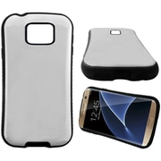 Insten Hard Dual Layer Rubber Coated Silicone Cover Case For Samsung Galaxy S7 Edge - White/Black
