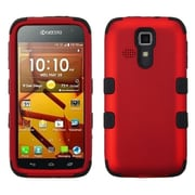Insten Red/Black TUFF Hybrid Hard Shockproof Phone Cover Case For Kyocera Hydro Life C6530 Icon 6730