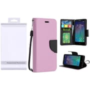 Insten PU Leather Flip Wallet Credit Card Stand Cover Case For Alcatel Stellar / Tru One Touch Pop 3 - Rose Gold