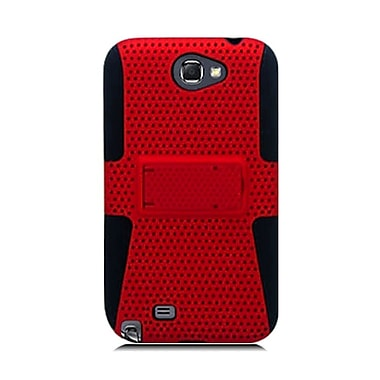 Insten TPU Rubber Hard PC Candy Skin Mesh Case Cover For Samsung Galaxy Note II - Red/Black