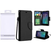 Insten PU Leather Flip Wallet Credit Card Stand Cover Case For Alcatel Stellar / Tru One Touch Pop 3 - Black