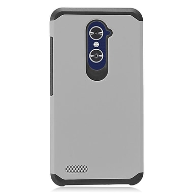 Insten Rubberized Dual Layer Hybrid PC/TPU Protective Case Cover For ZTE Zmax Pro - Gray/Black