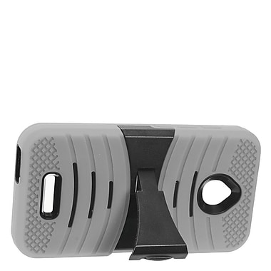 Insten Wave Symbiosis Armor Hybrid Hard Stand Protective Case Back Cover For Alcatel Dawn / Ideal / Streak - Gray/Black