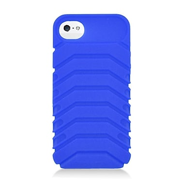 Insten Ridge Silicone 3D Rubber Case For Apple iPhone 5/5C/5S - Blue