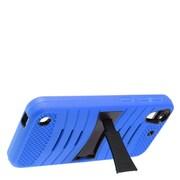 Insten Wave Symbiosis Silicone Rubber Hard Case w/stand For HTC Desire 530 - Blue/Black