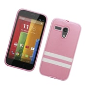 Insten Leather Fabric TPU Case For Motorola Moto G(3rd Gen) - Pink