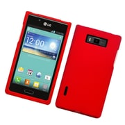 Insten Hard Rubber Coated Case For LG Splendor US730 / Venice LG730 - Red